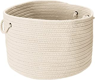 product image for Colonial Mills BR10 18 by 18 by 12-Inch Boca Raton Solid Storage Basket, White