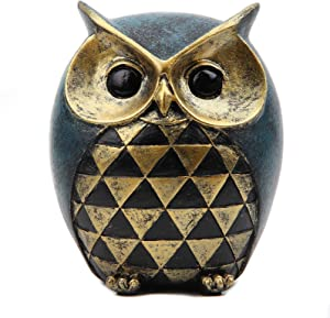 Leekung Owl Statue Home Decor,Owl Figurines for Bookshelf Bedroom Living Room Office TV Stand Decorations,Owl décor Animal Sculptures Gift for Birds Lovers