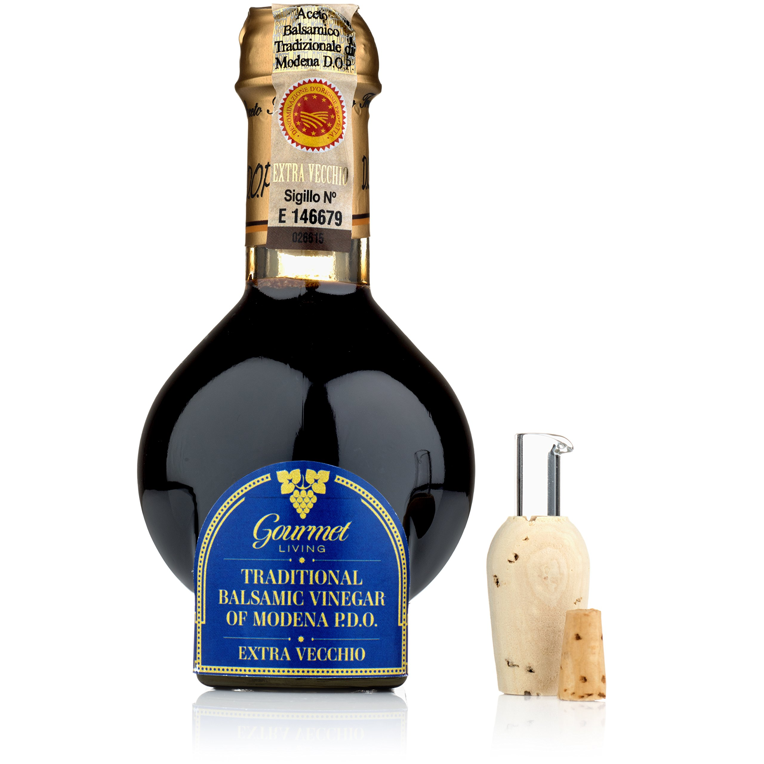 Traditional Balsamic Vinegar DOP 25 Years | 100 ml Barrel-aged PDO Certified Extravecchio Balsamico from Modena, Italy