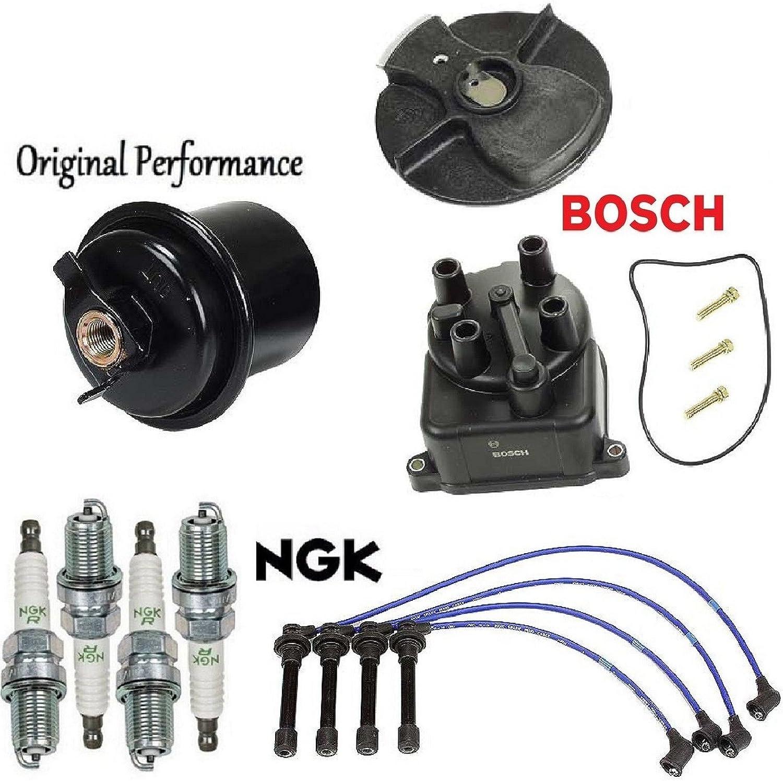 EX Tune Up Kit NGK V-Power Plugs 1996-2000 Honda Civic 1.6L CX LX DX