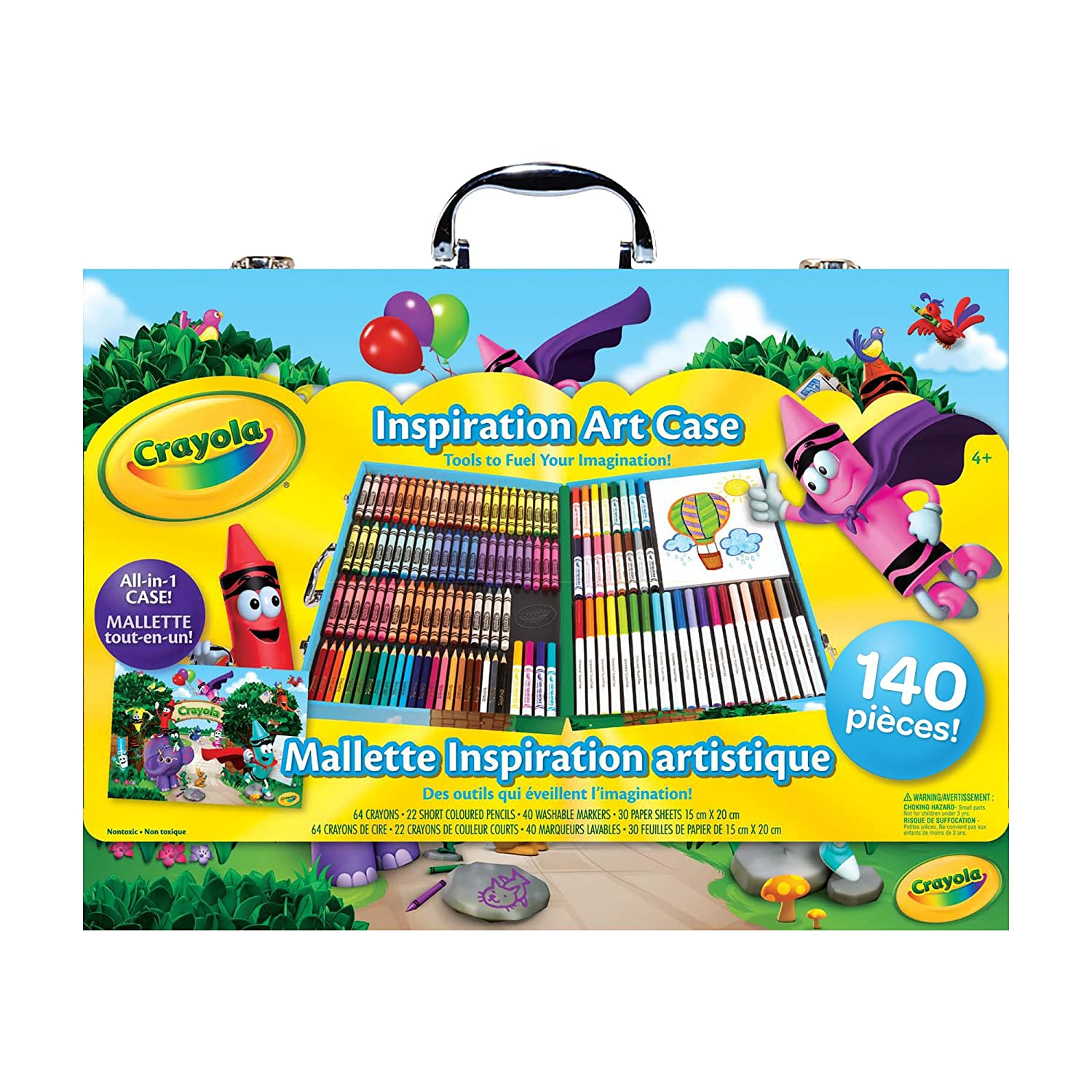 $14.95 (Was $29.99) Crayola Inspiration Art Case; 140 Art Supplies, Crayons, Colored Pencils, Washable markers, Paper, Portable Case