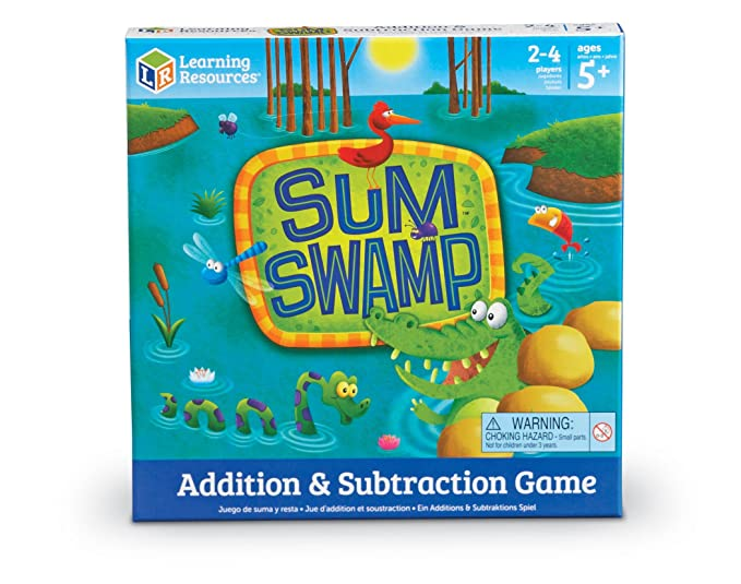 Amazon.com: Learning Resources Sum Swamp Game, 8 Pieces: Office Products