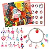 Lorfancy 24 Days Christmas Advent Calendar 2020 Christmas Countdown Calendar 24 Charms with Bracelet Necklace Set…