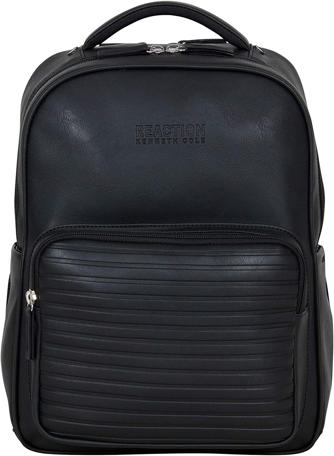 "Kenneth Cole On Track Pack Vegan Leather 15.6"" Laptop & Tablet Bookbag Anti-Theft RFID Backpack for School, Work, Travel"