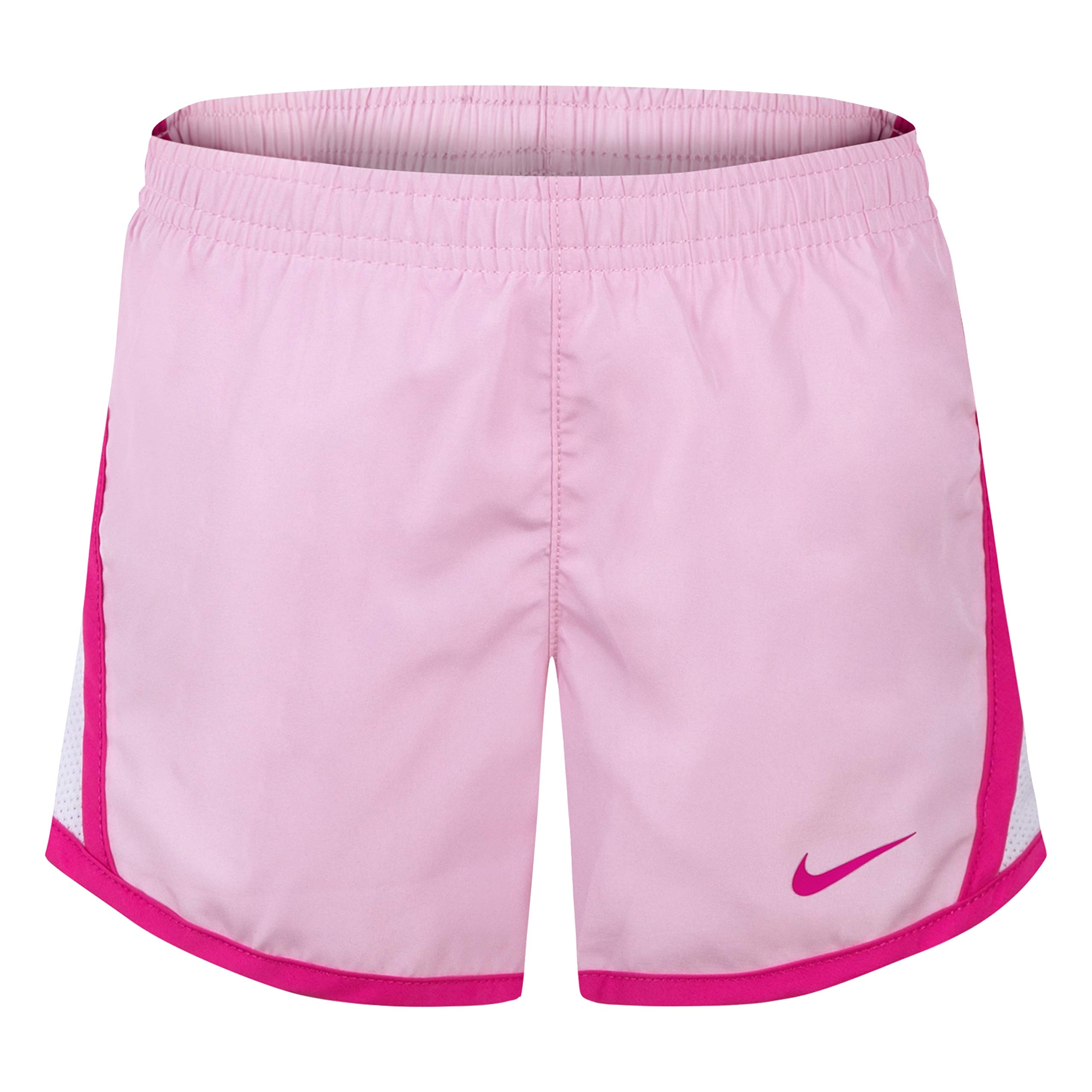 NIKE Children's Apparel Girls' Little Dri-FIT Tempo Shorts, Pink Foam, 4 by NIKE Children's Apparel