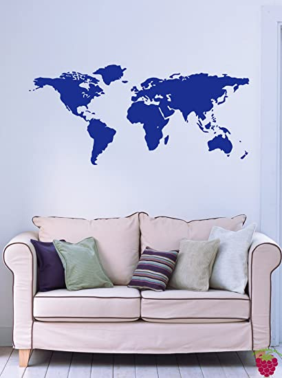 Amazon world map earth globe science geography decor wall mural world map earth globe science geography decor wall mural vinyl decal sticker m017 17 gumiabroncs Images
