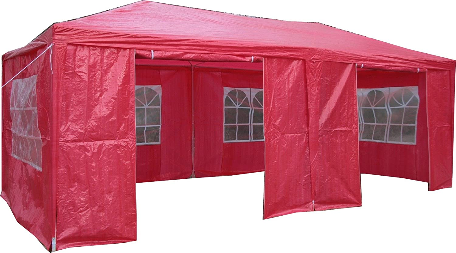 Airwave 3 x 6m Party Tent Gazebo Marquee with 2 x Unique WindBars and Side Panels 120g Waterproof Canopy, Green, 120g ESC Ltd