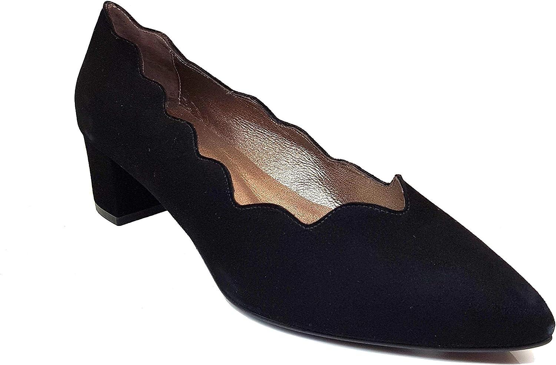 Black Suede Leather Pumps Court Shoes