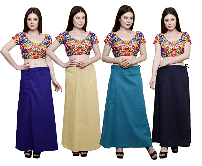 34ab92a0f1d083 Pistaa combo of Women's Cotton Royal Blue, Beige, Dark Rama and Navy ...