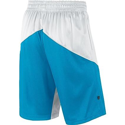 3c31bca3775b Amazon.com  Jordan Melo Triangle and Jumpman Men s Basketball Shorts  White Blue 589110-100 (Size S)  Clothing