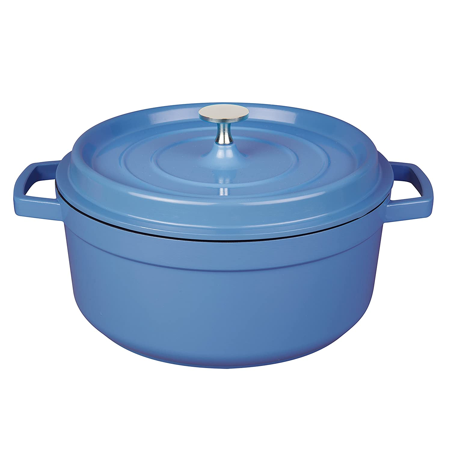 MasterPan 4QT Non-Stick Cast Aluminum Dutch Oven, 4 Quart,