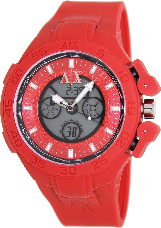 Amazon.com: Armani Exchange Red Active Analog Digital Mens Watch AX1281: Armani Exchange: Watches