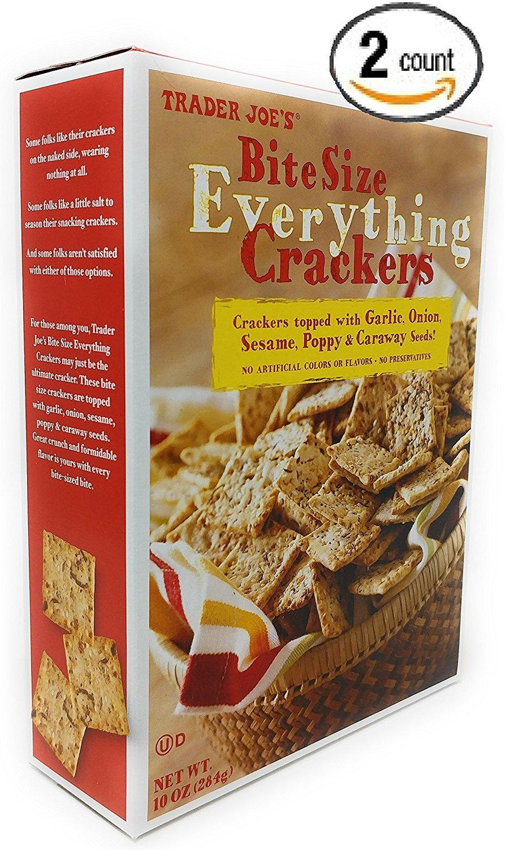 Trader Joe's - Bite Size Everything Crackers 10 OZ (284g) - 2-Pack