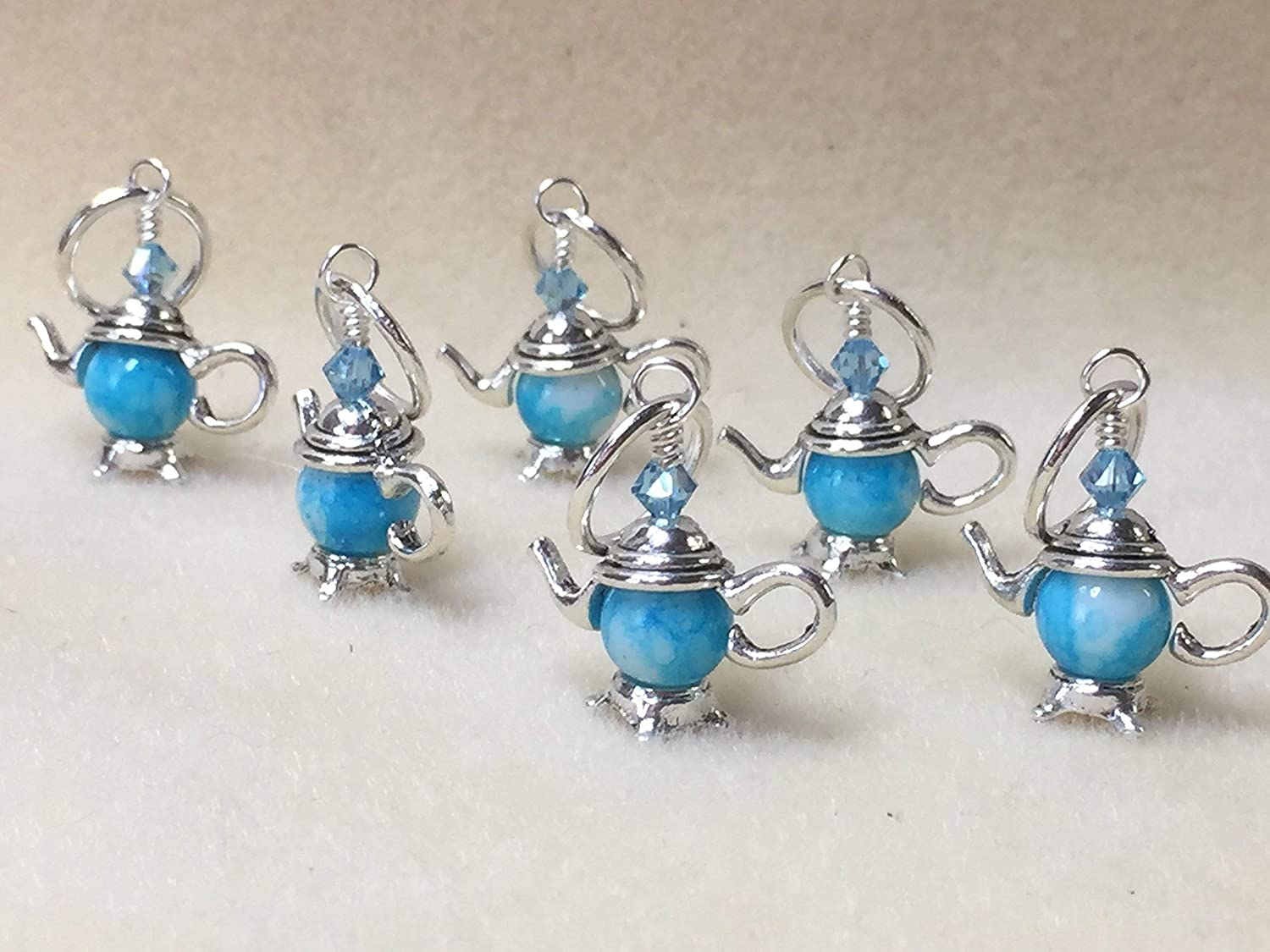 Snag Free Teapot Stitch Marker Jewelry for Knitting