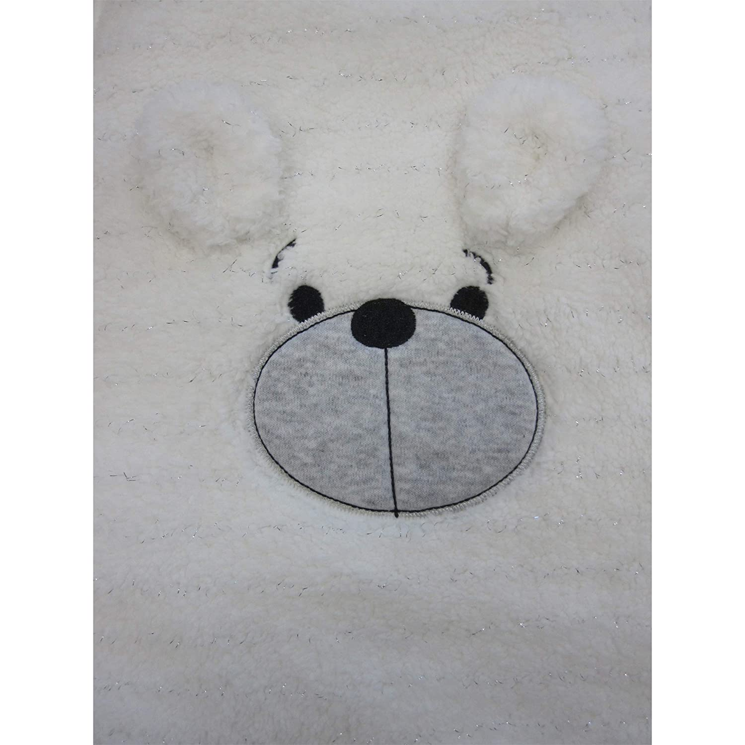 Pitter Patter Unisex Ultra Soft Sleeping Bag with Cute Bear face Embroidery for Babies and Toddlers 42059 This 100/% Cotton Soft Large Baby Sleeping Bag is a Perfect Gift-