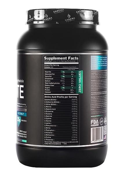 Amazon.com: Sascha Fitness aislante hidrolizado de proteínas ...