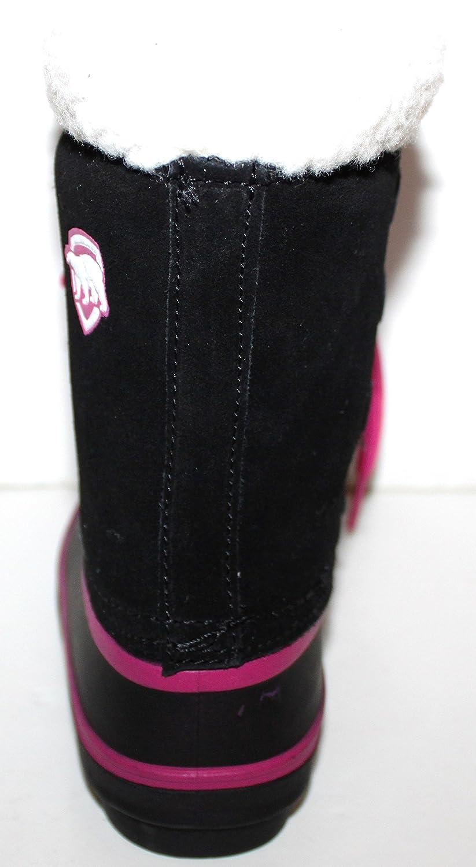 40 Rating ArcticShield Toddler Preschool Girls Black Suede Winter Duck Boots with