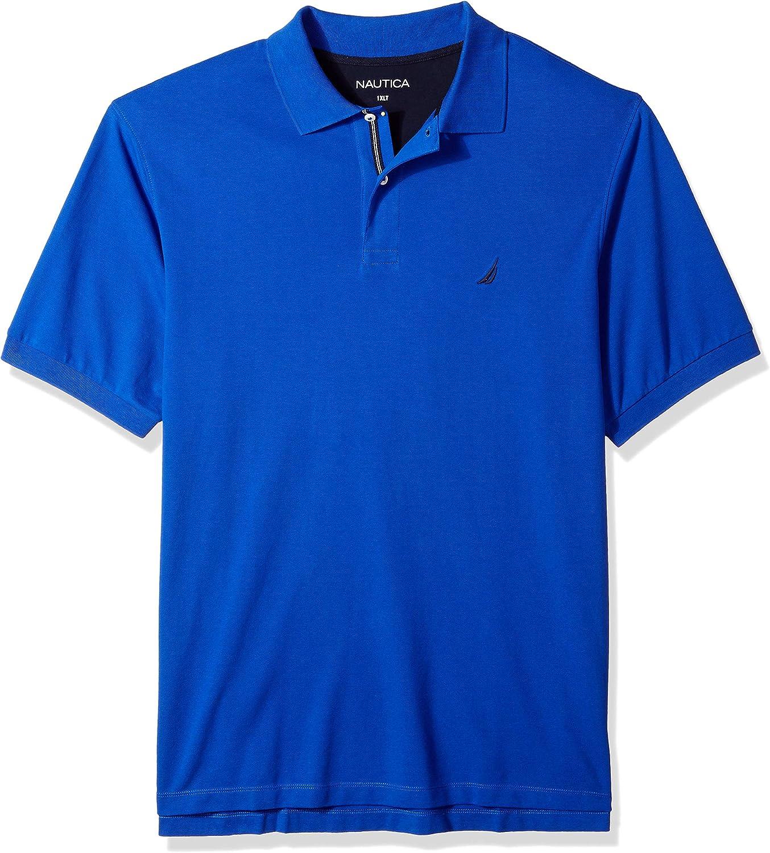 Nautica Mens Big /& Tall Short Sleeve Solid Deck Polo Shirt