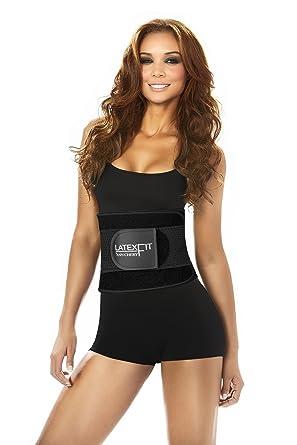 0afb9991473 Ann Chery 2051 Latex Fit Women Waist Trimmer Belt for Weight Loss Lumbar  Support Black 30