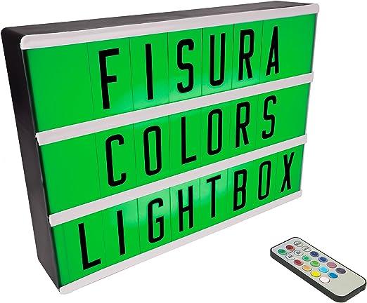 FISURA DC0634 Lightbox Caja de Luz Cinematografica Multicolor ...