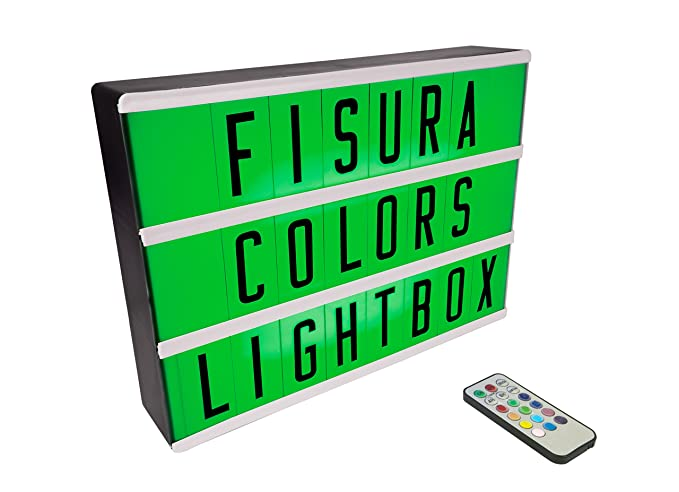 Fisura Dc0634 Lightbox Lampada Led Multicolor Formato A4 Con 107