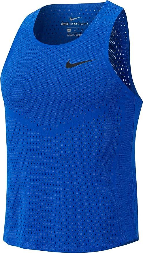 Enfermedad infecciosa Dedicar Alcalde  Nike Men's AeroSwift Singlet: Amazon.de: Sport & Freizeit