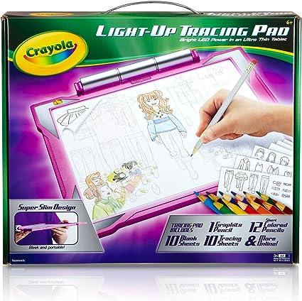Amazon.com: Crayola Light Up Tracing Pad Rosa. Portátil ...