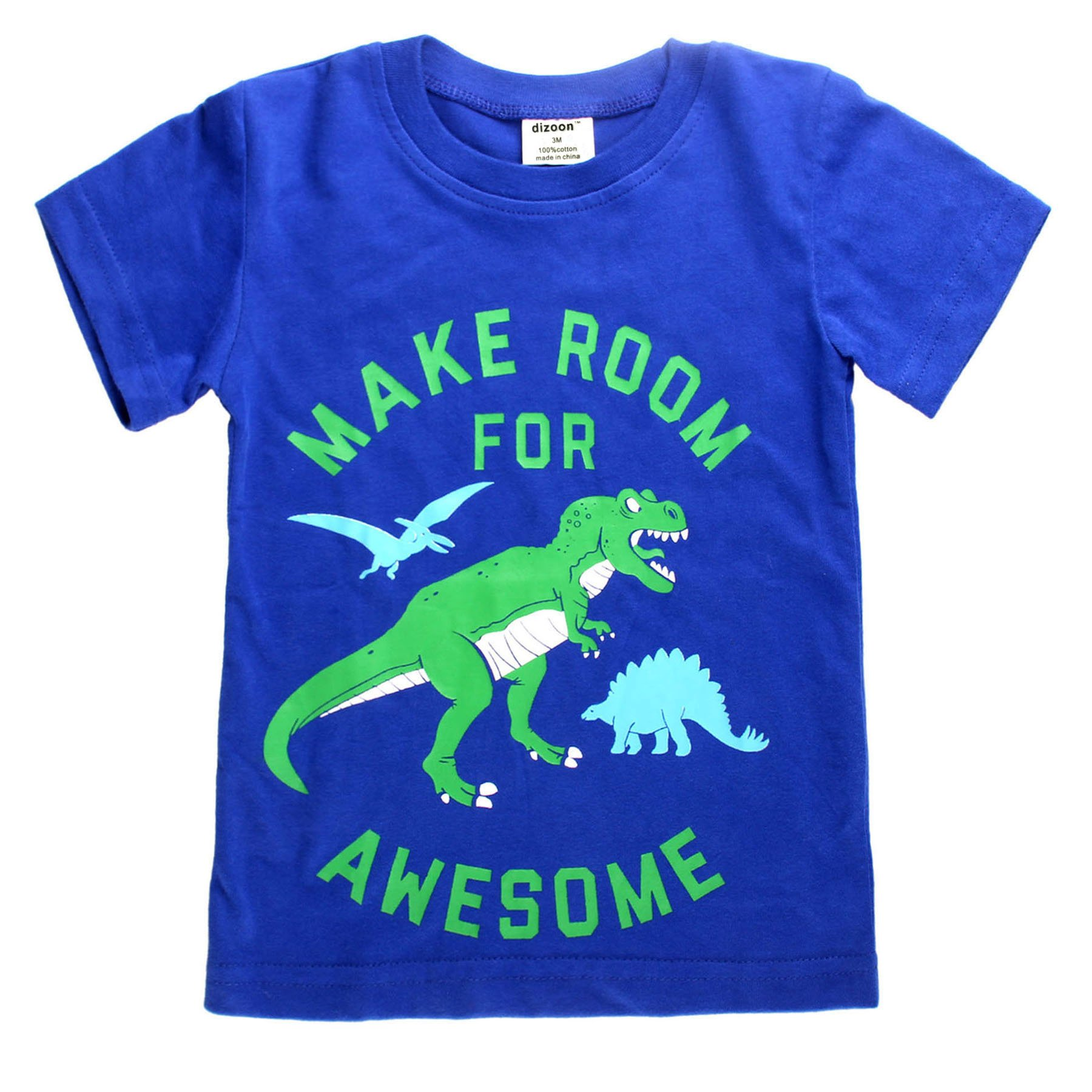 Little Boys Tee Dinosaur Summer Tops Toddler Crew Neck Casual T-Shirts