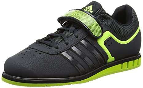 f422a9a757c7bc Adidas Powerlift II Workout Shoes Weightlifting Shoes Fitness  Anthracite Black Neon