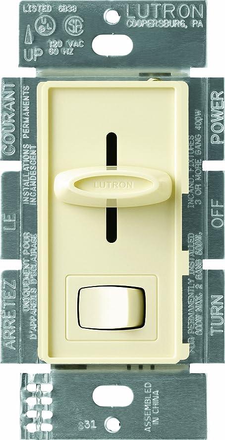 Lutron S103PAL Skylark 1000watt 3Way Dimmer Almond Wall