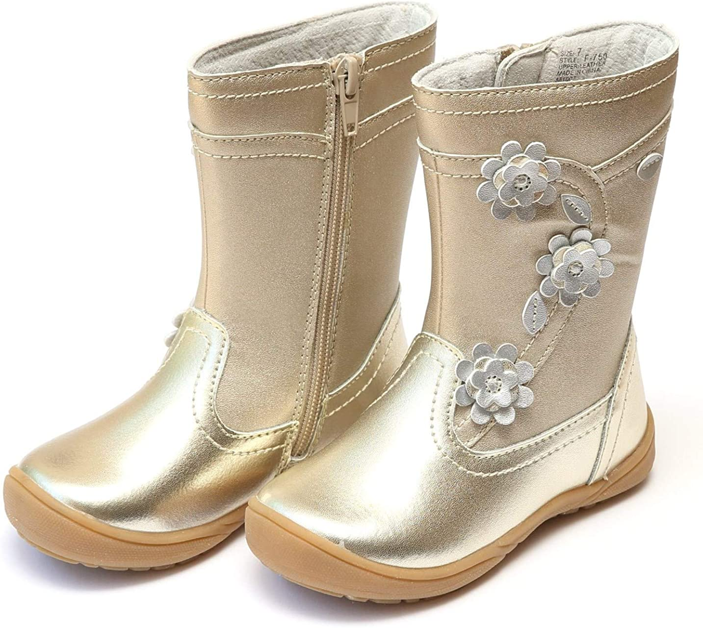gold boots girls