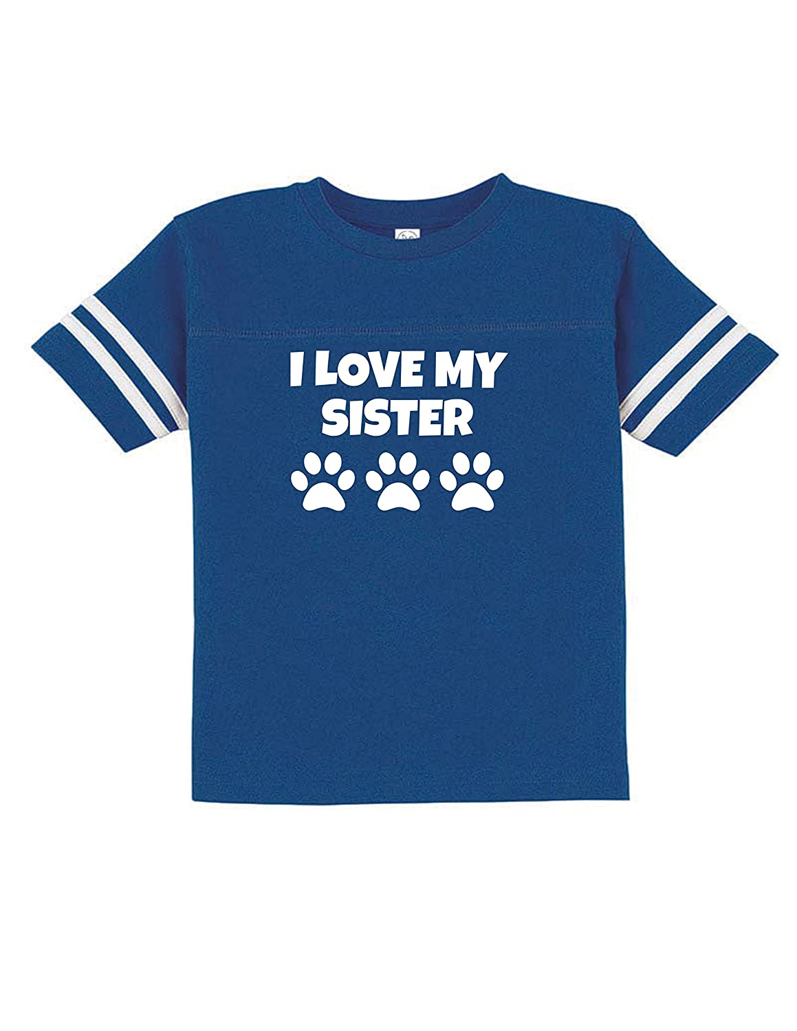 I Love My Pet Sister Funny Toddler Football Tee