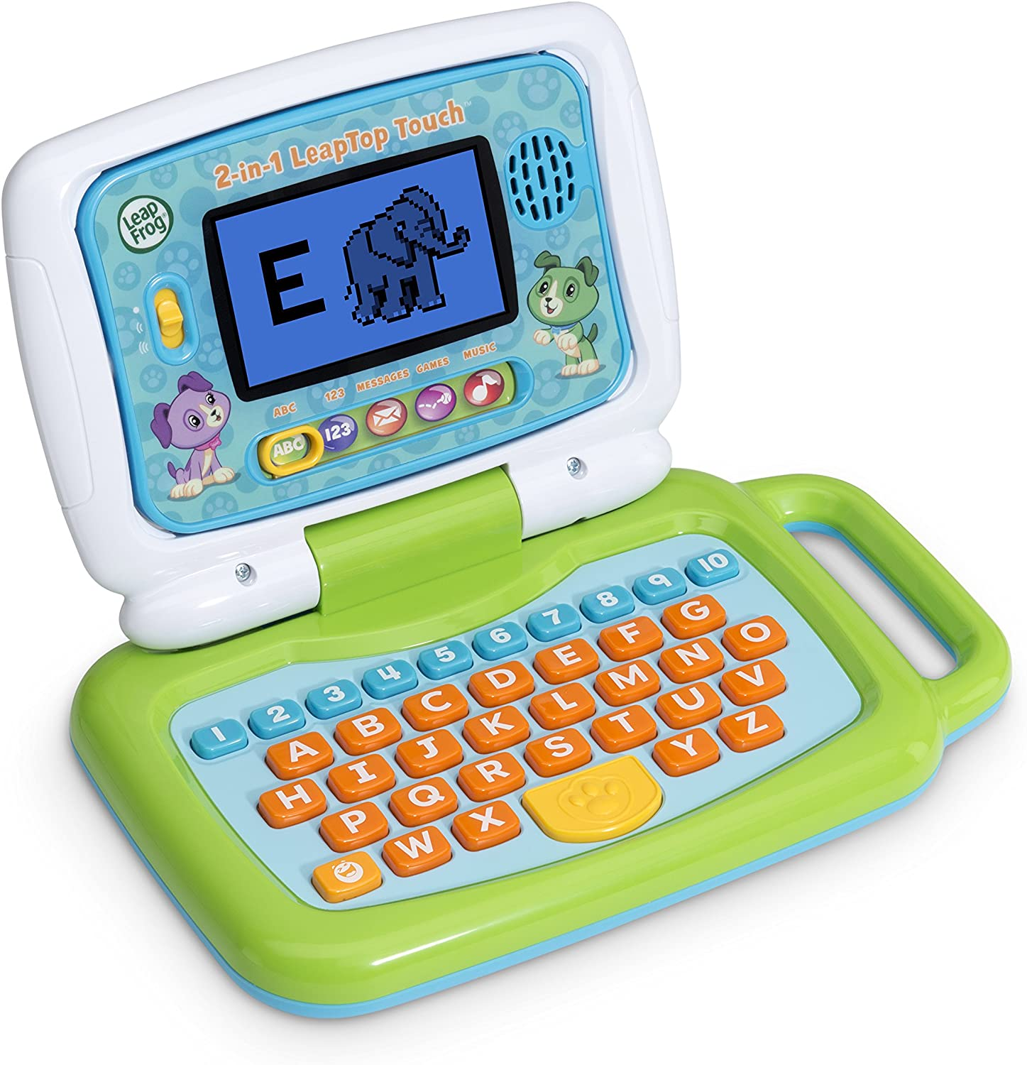 LeapFrog 2-in-1 LeapTop Touch Green Frustration Free Packaging