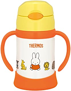 From Thermos Vacuum Insulation Baby Straw tazón Miffy (Yellow) 9Months Around May THERMOS (Thermos) FHI-250B