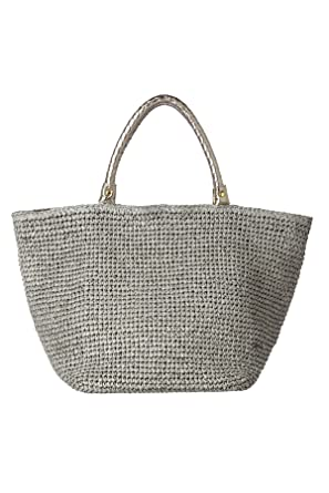 Amazon.com | Beach by Florabella Rosemary Woven Metallic Beach ...