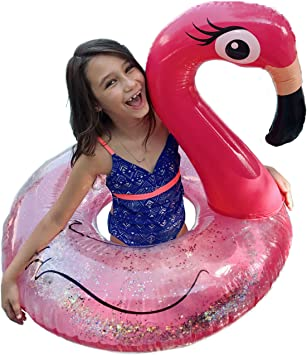 Amazon.com: Flotador grande de flamenco para piscina para ...