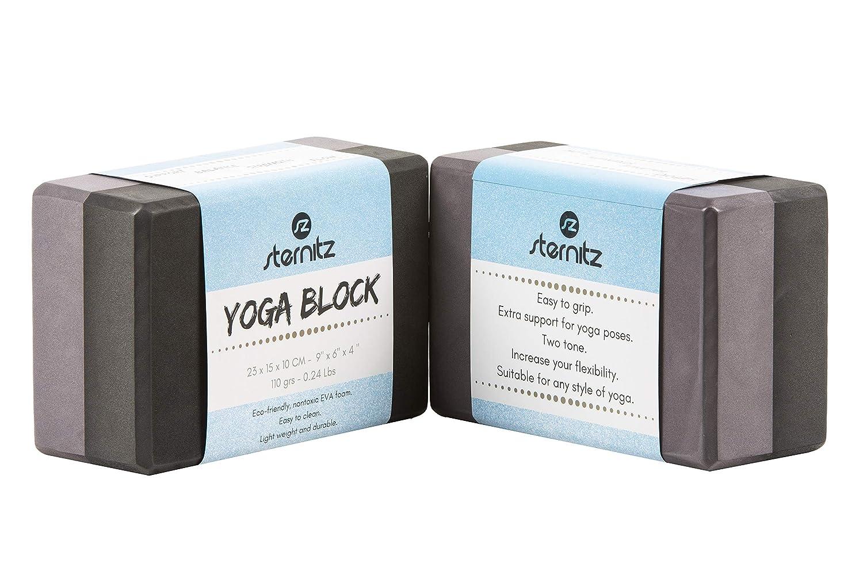 Sternitz - Bloque de Yoga - Eco-Friendly - No Tóxico - Liviano y Duradero - Yoga Block
