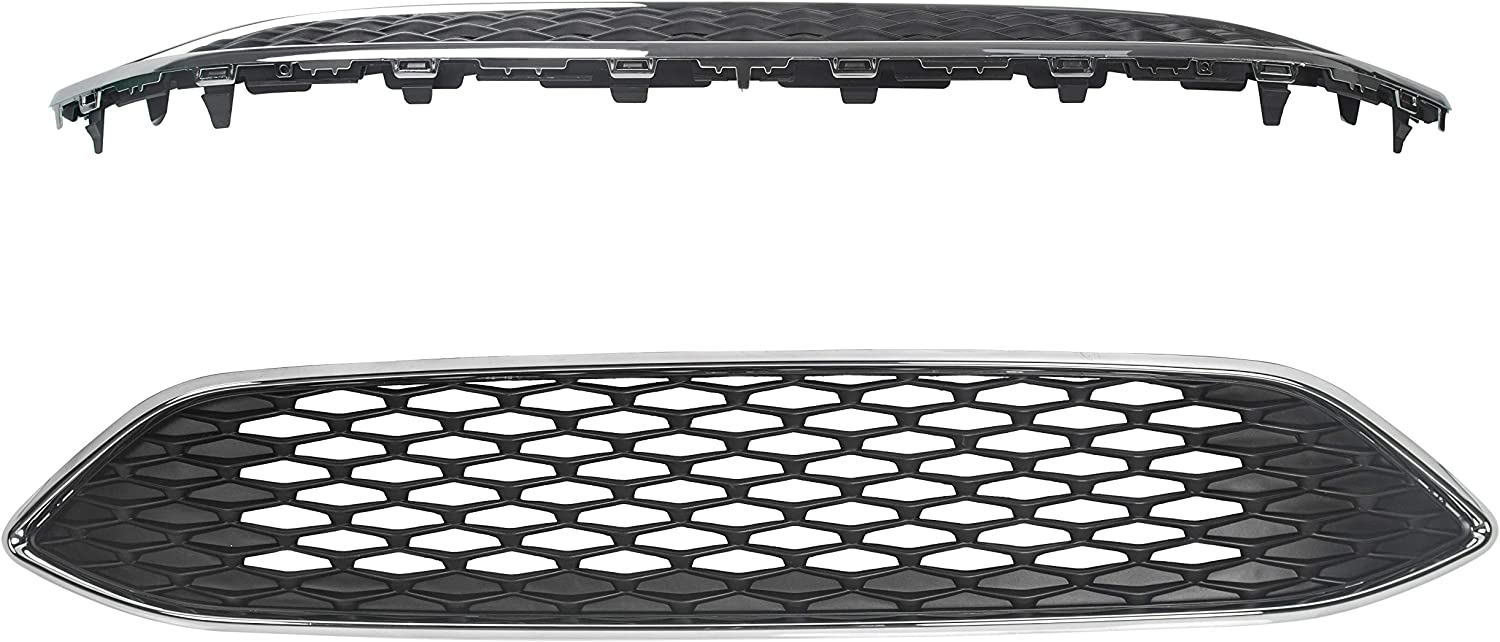 F1EZ-8200B ECOTRIC Front Upper Center Sport Grille Grill ABS Black Honeycomb Style Replacement For 2015-2018 Ford Focus S /& SE Replace for #F1EZ-8200A