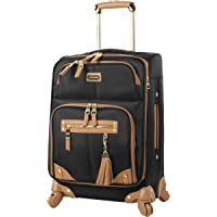 "Steve Madden Luggage Carry On 20"" Expandable Softside Suitcase With Spinner Wheels"
