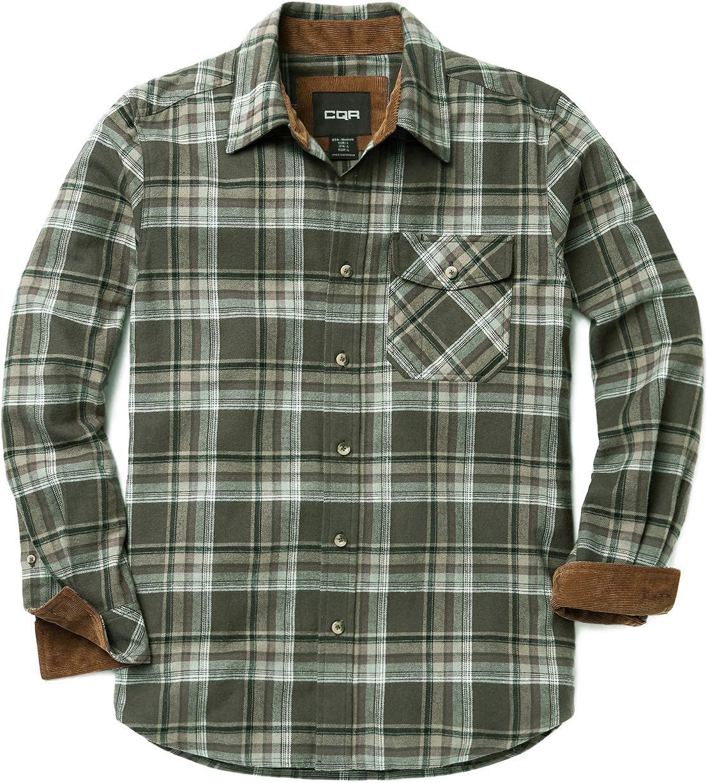 CQR HOF110 - Camisa de franela de manga larga para hombre, 100% algodón cepillado, XXL, HOF110-JNP: Amazon.es: Deportes y aire libre