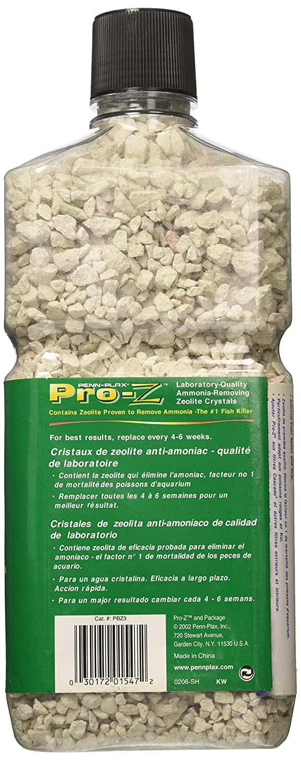 Amazon.com : Penn Plax Pro-Z Ammonia-Removing Zeolite Crystals for Aquarium, Large : Aquarium Cleaning Supplies : Pet Supplies