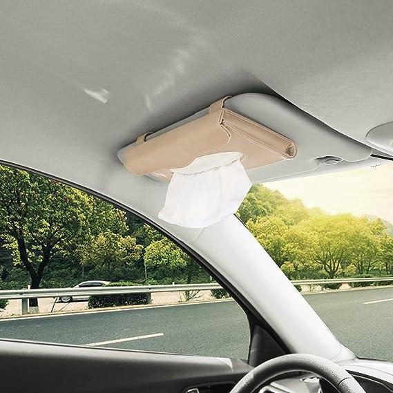 Maluokasa Sonnenblende Auto Tissue Holder Auto Leder Taschentuchhalter f/ür Sonnenblende /& R/ückenlehne Autogewebehalter Auto Visier Tissue Holder Sonnenblende Serviettenhalter