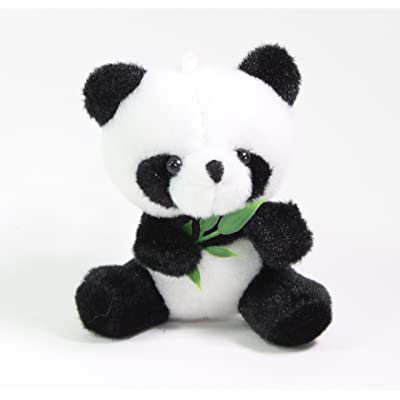 "3"" Panda Eating Bamboo Stuffed Plush Wall Window Hanging Animal Toy Birthday Gift US Seller: Toys & Games"