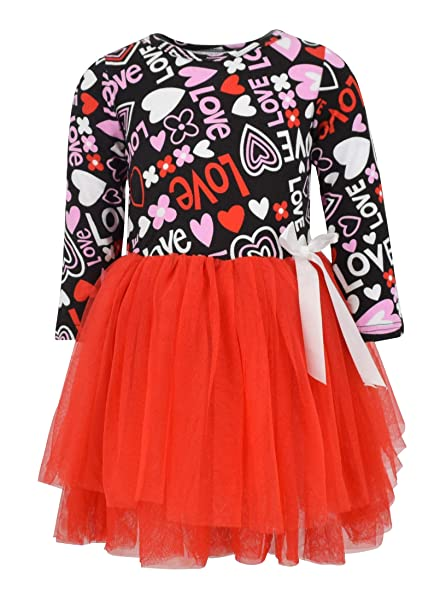 Amazon Com Unique Baby Girls Valentine S Day Love And Heart Dress