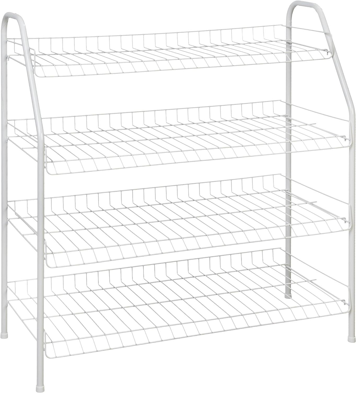 ClosetMaid 8131 4-Tier Freestanding Shoe Rack, White