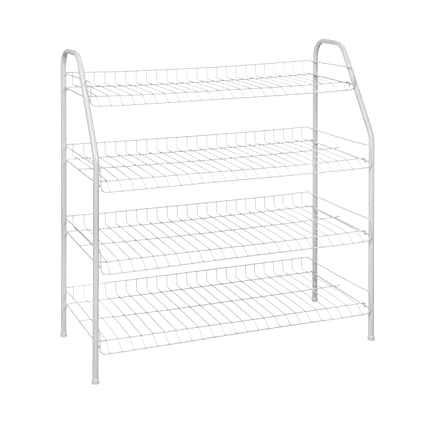 Superieur ClosetMaid 8131 4 Tier Freestanding Shoe Rack, White