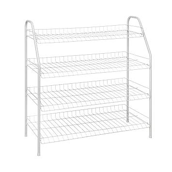 ClosetMaid 8131 4 Tier Freestanding Shoe Rack, White