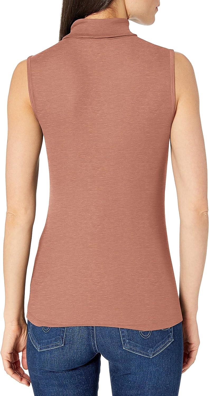 Black Size Large Lark /& Ro Women/'s Rayon Span Sleeveless Mock Brand