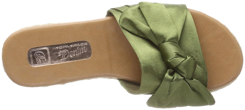 TOM Tailor 4896212, Zuecos para Mujer, Verde (Caqui), 36 EU Tom Tailor