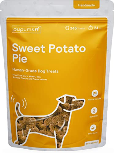 Pupums Dog Treats Healthy Ingredients, 100 Human Grade, All Natural and Non GMO Handcrafted and Made in The USA Made for All Dog Sizes and Ages Various Flavors